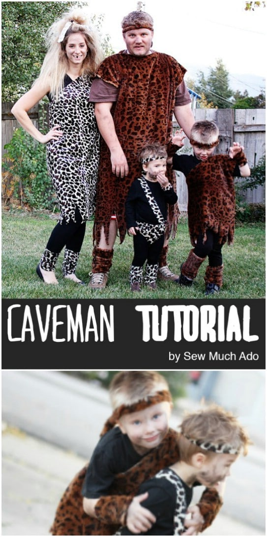 Family Of Cavemen Costumes
