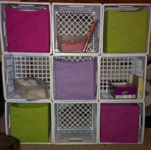 Stackable Milk Crate Recycling Storage - 20 DIY Home Recycling Bins That Help You Organize Your Recyclables