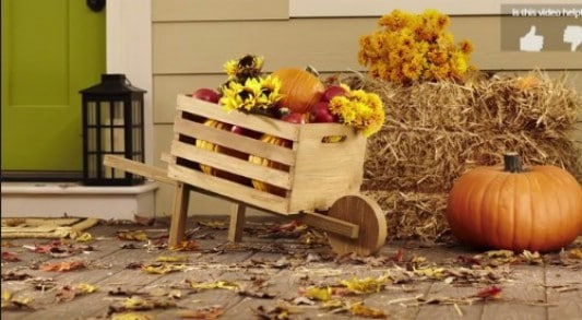 DIY Rustic Decorative Wheelbarrow