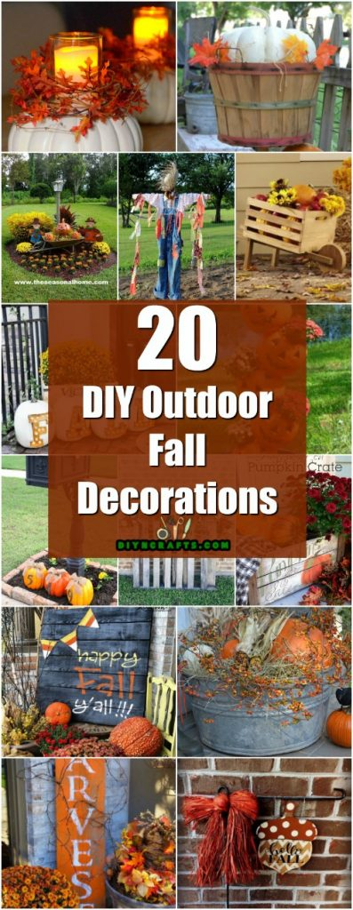 20 DIY Outdoor Fall Decorations That'll Beautify Your Lawn ... on Lawn Decorating Ideas id=54095