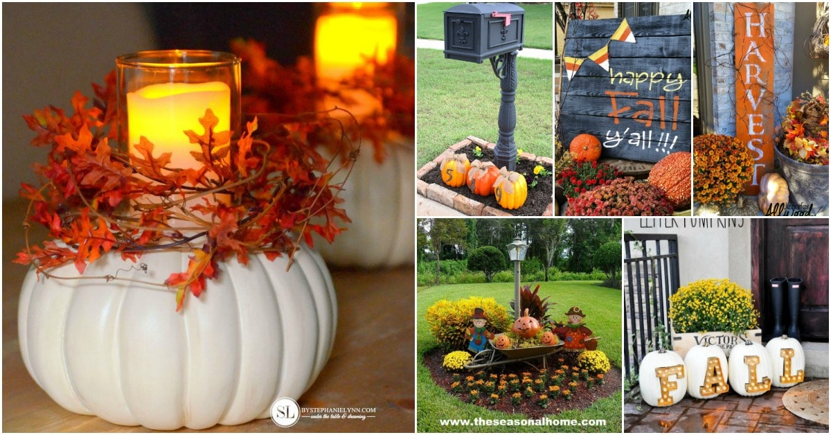 20 Diy Outdoor Fall Decorations Thatll Beautify Your Lawn