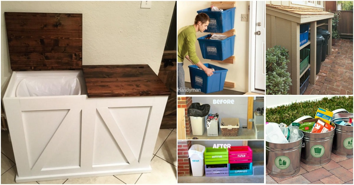 20 Diy Home Recycling Bins That Help