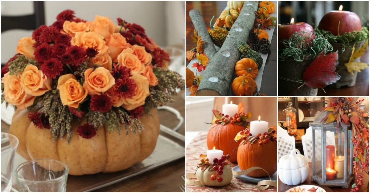 21 diy thanksgiving centerpieces that will be the star of - Thanksgiving dinner table decorations ...