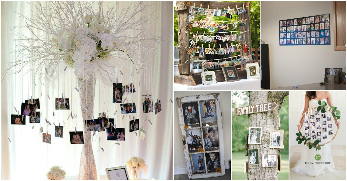 25 DIY Wedding Photo Display Ideas To Showcase On Your Special Day