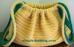 Simple Two Needle Knit Handbag