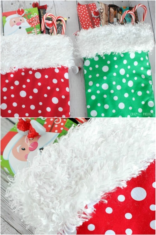 Easy 10 Minute DIY Stocking