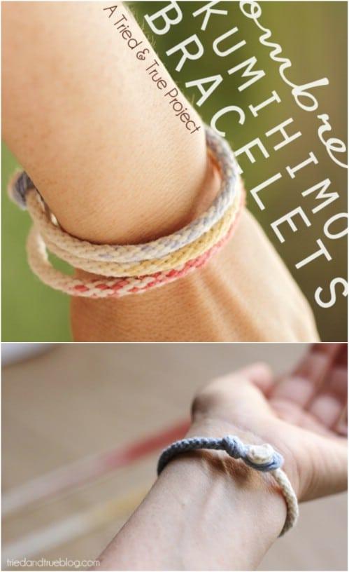 DIY Braided Yarn Bracelet