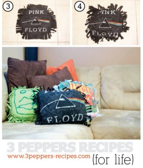 Upcycled T-Shirt Throw Pillow