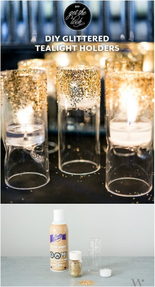 DIY Art Décor Gold Candles