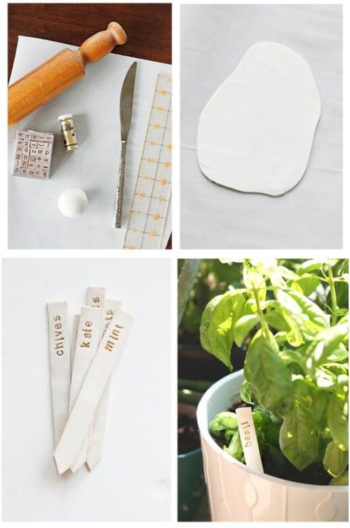 Easy Homemade Garden Markers