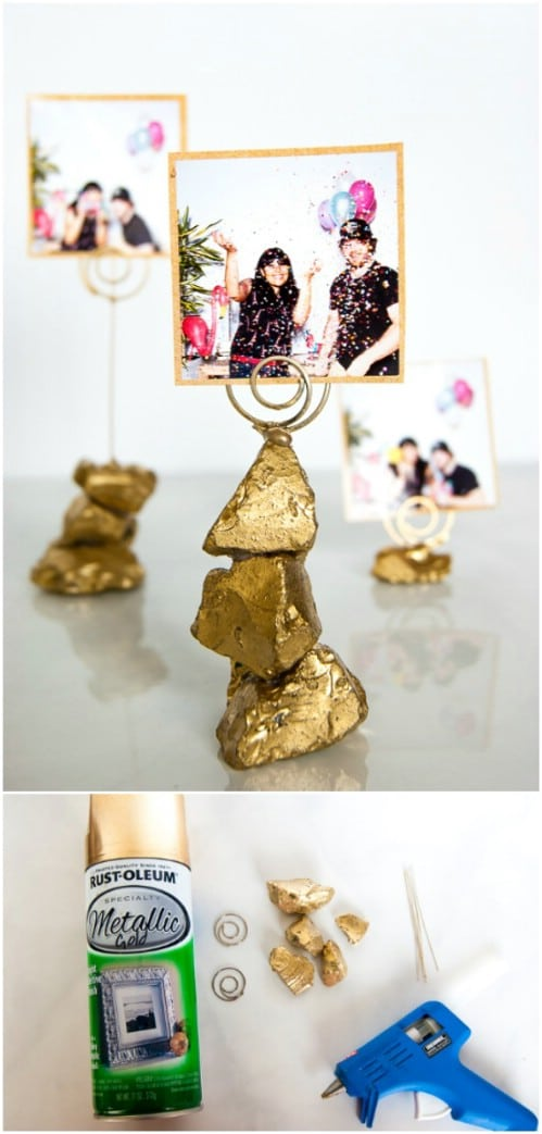 DIY Golden Nugget Photo Holder