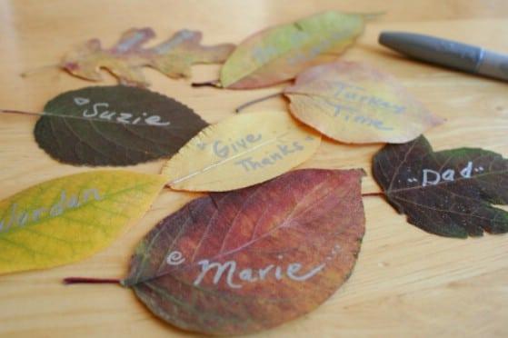 Fall Leaf Place Settings