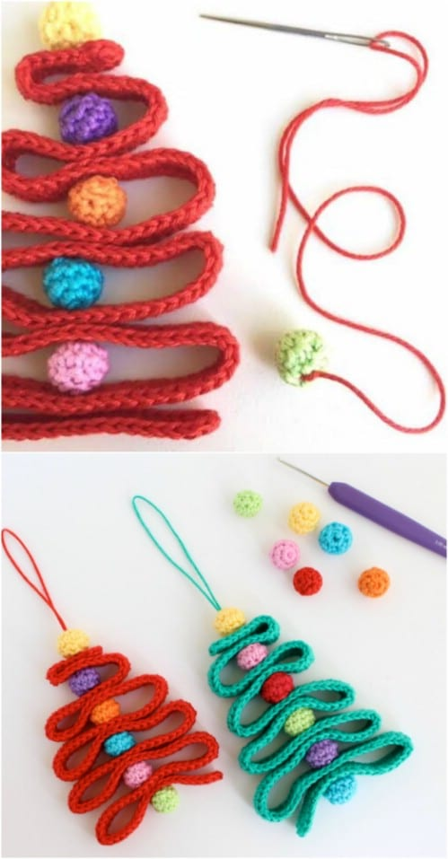 Easy Crochet Ribbon Christmas Tree