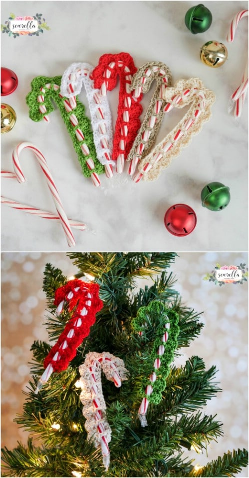 Crochet Candy Cane Covers
