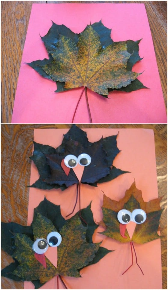 DIY Maple Leaf Turkeys