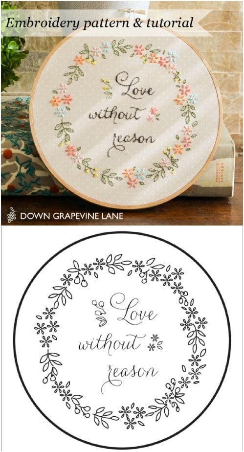 image regarding Printable Embroidery Patterns named 25 Uncomplicated Embroidery Tasks For Rookies With Free of charge Layouts