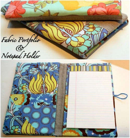 DIY Portfolio And Notepad Holder