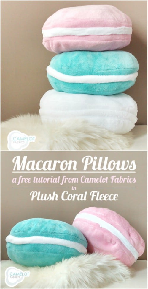 Fleece Macaroon Pillow