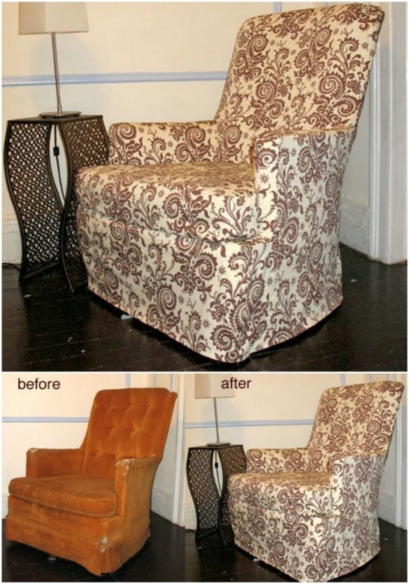 Outstanding 20 Easy To Make Diy Slipcovers That Add New Style To Old Beatyapartments Chair Design Images Beatyapartmentscom