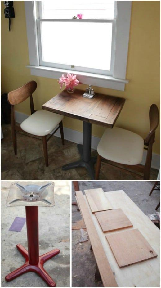 DIY Repurposed Flooring Side Table