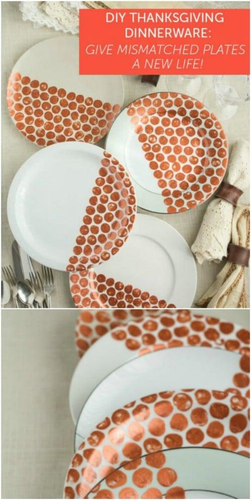 DIY Decorative Thanksgiving Plates