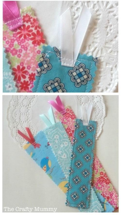 DIY Fabric Scrap Bookmarks
