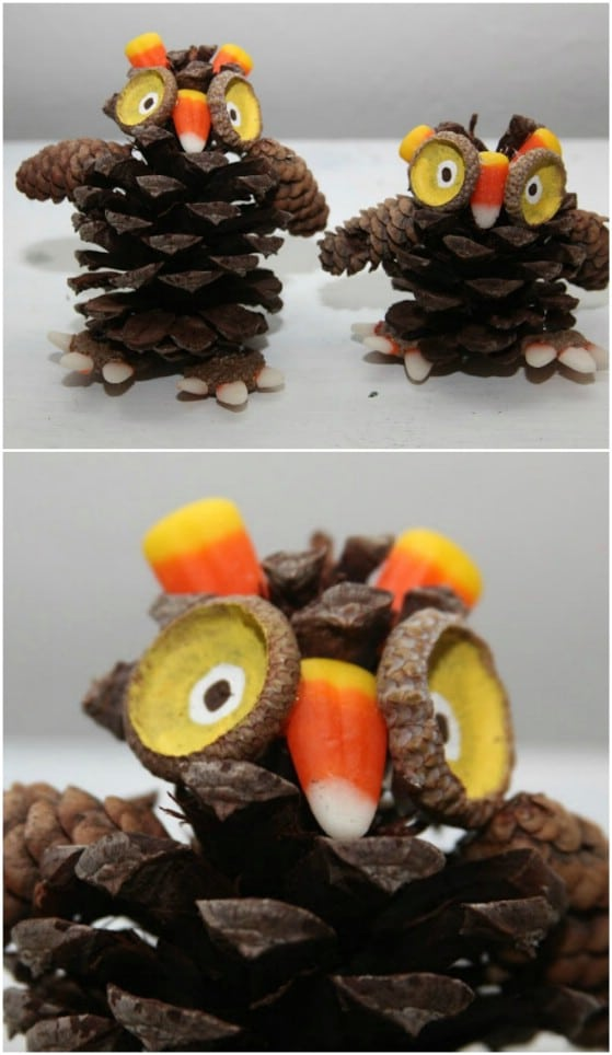 Mini Pinecone Owls