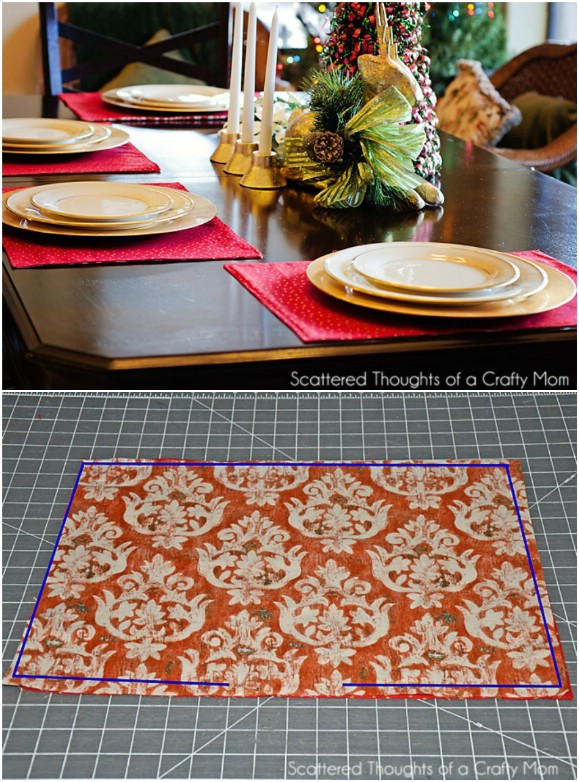 Reversible Christmas And Thanksgiving Placemats