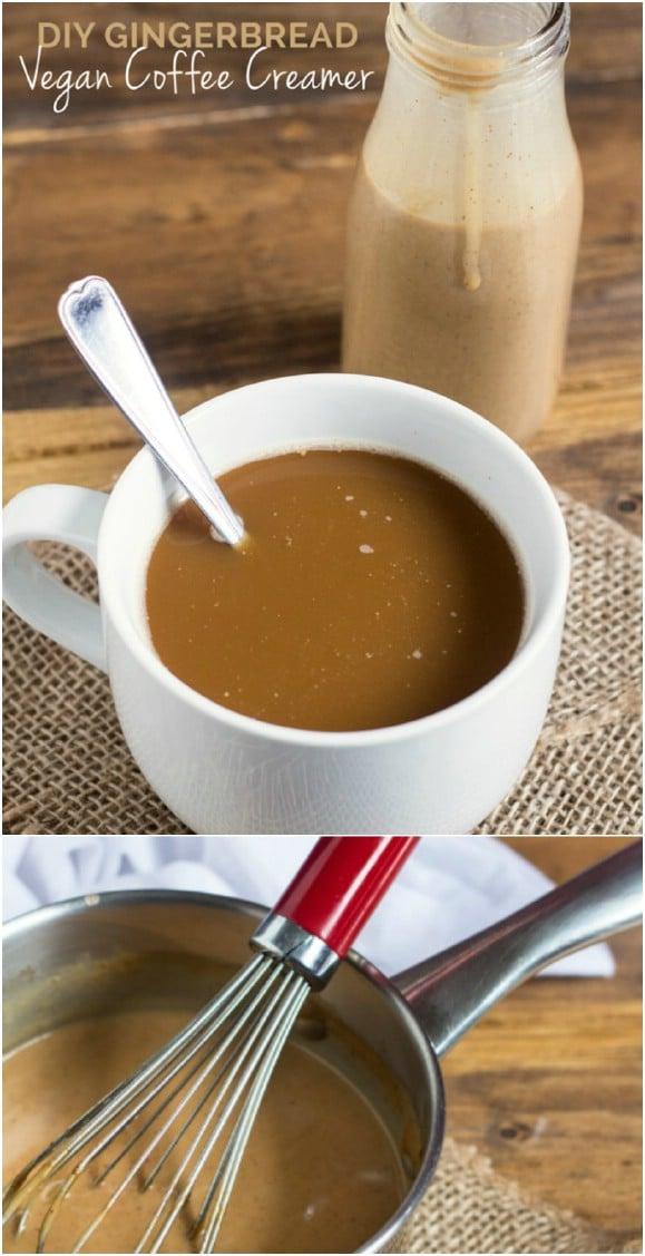 Homemade Gingerbread Coffee Creamer