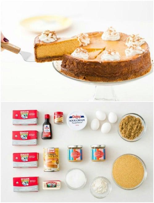 Homemade Pumpkin Cheesecake