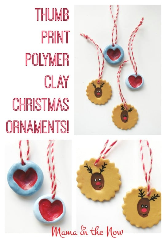 Homemade Thumbprint Christmas Ornaments