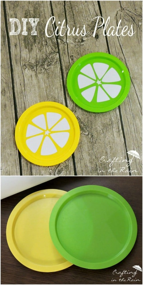 Summery DIY Citrus Plates