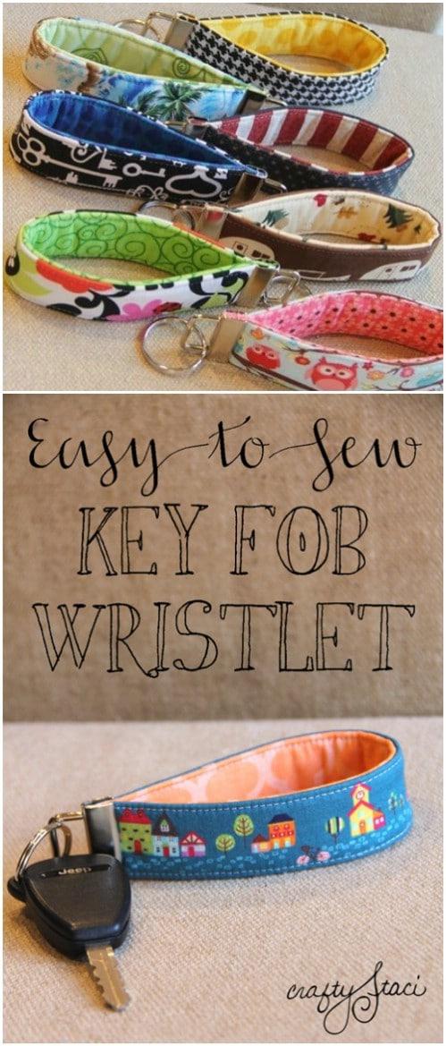 Easy DIY Key Fob Wristlet