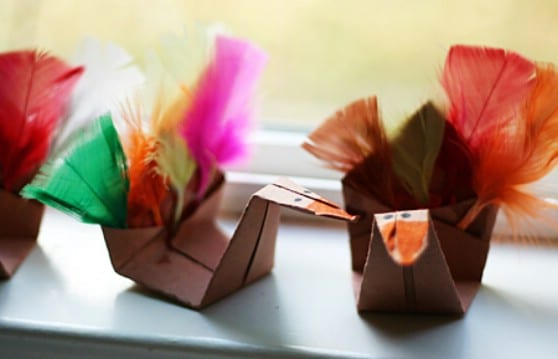 DIY Origami Mini Turkeys