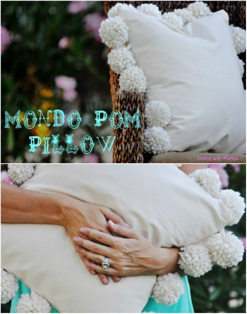 Huge DIY Pom Pom Pillow