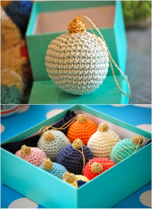 Easy Crochet Christmas Bauble Ornament