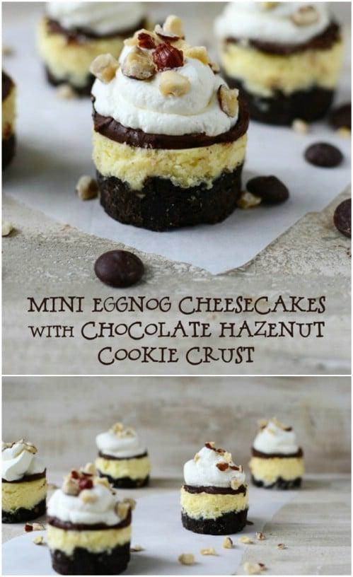 Eggnog And Hazelnut Cheesecake
