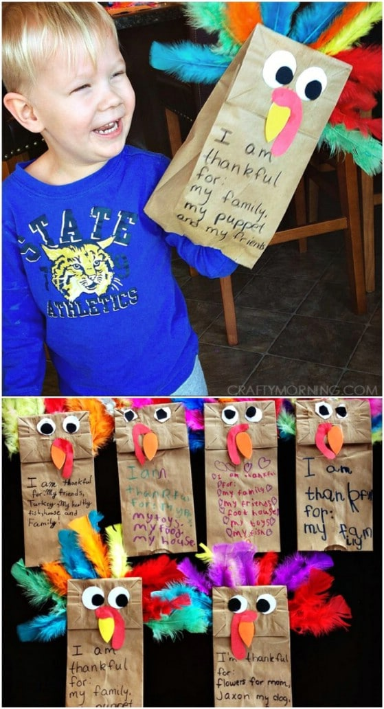 Paper Sack Turkey Puppets