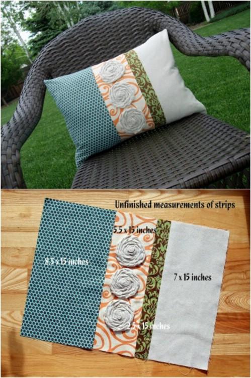 Quilt Work Look Pillow