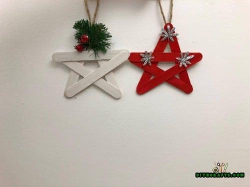 DIY Craft Stick Christmas Star Ornament