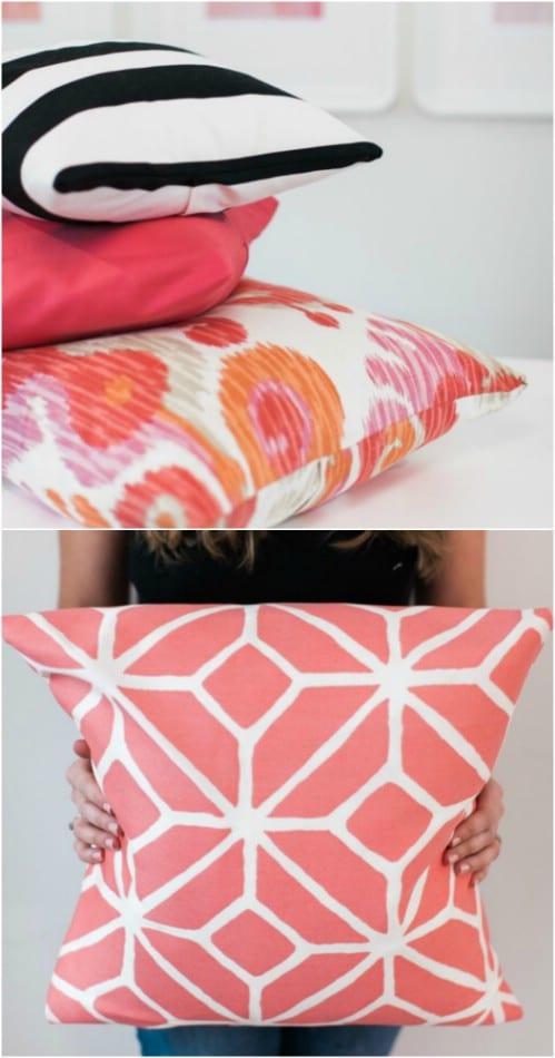 Easy DIY No Sew Pillow