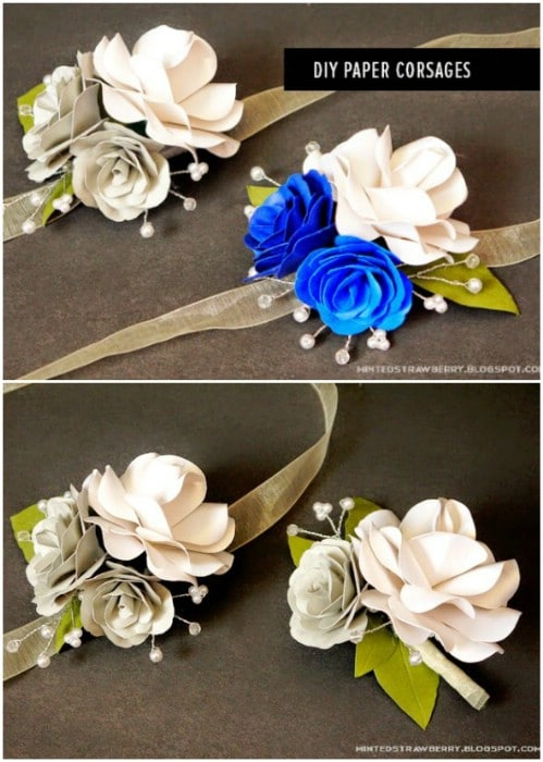 Winter Flower Corsages