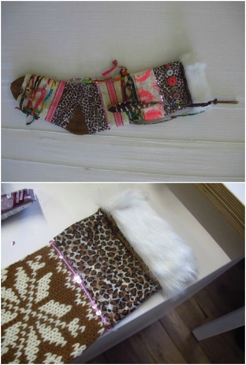 Embellished Knit Stocking