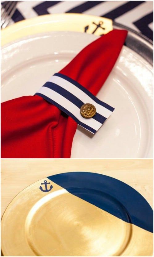 DIY Nautical Charger Plates