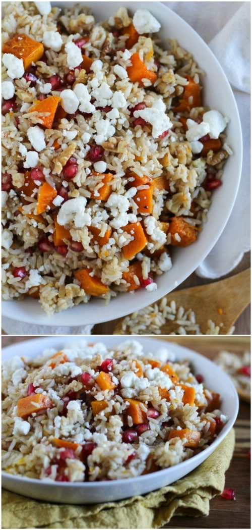 Citrus Brown Rice With Butternut Squash