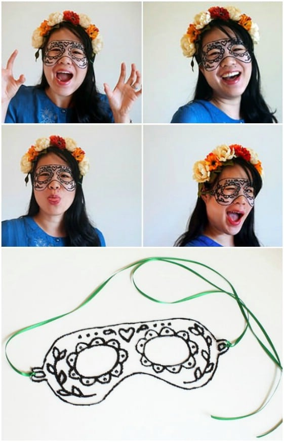 Gorgeous DIY Sugar Skull Mask