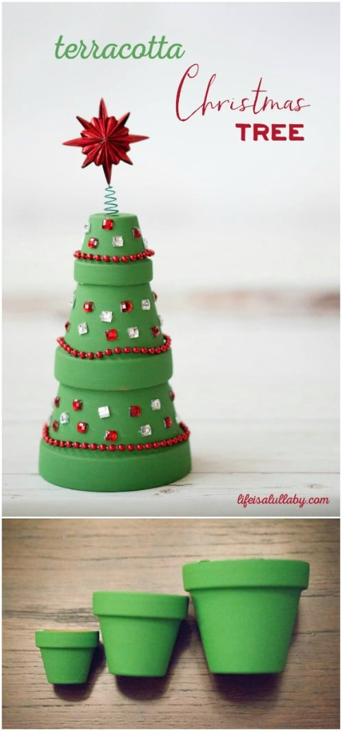 20 DIY Clay Pot Christmas Decorations That Add Charm To Your ...