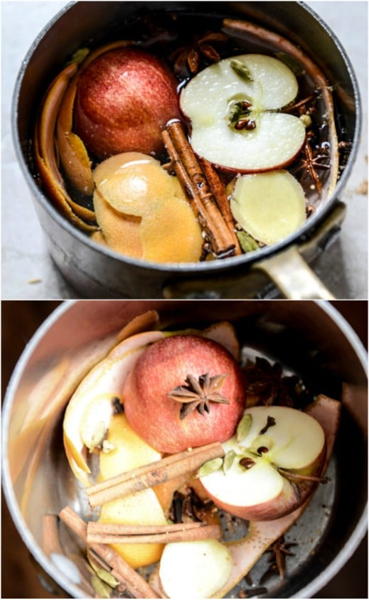 DIY Apple Ginger Simmering Potpourri