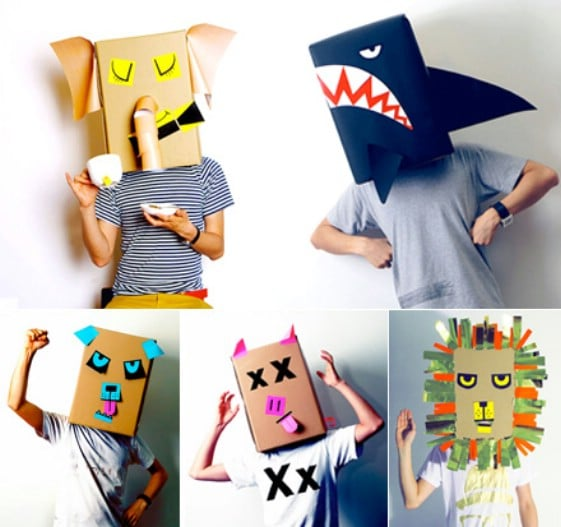 Upcycled Cardboard Box Mask