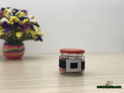 Santa Belt Candy Jar